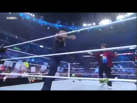WWE Classic Clips - The Rock Rock Bottoms Mick Foley