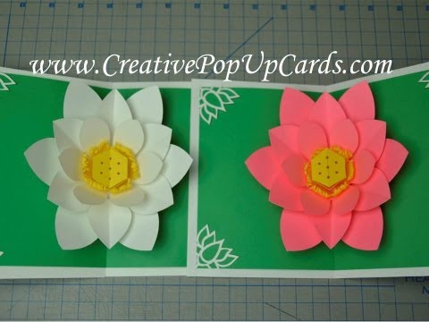 Mother's Day Lotus Flower Pop Up Card Tutorial