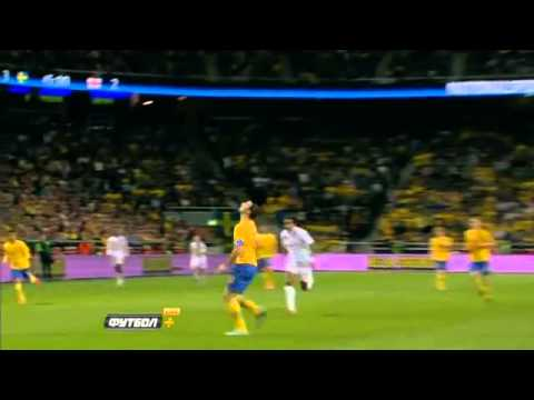[HD] Zlatan Ibrahimovic | 30 YARD BICYCLE GOAL!!! | 14-11-2012 | Sweden vs England 4-2
