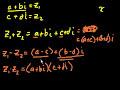 Фрагмент с средины видео - Complex Numbers (part 1)