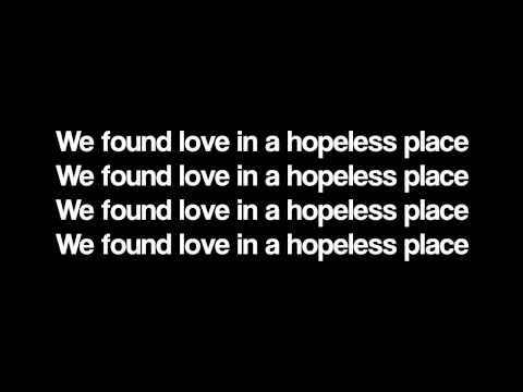 Rihanna - We Found Love (LYRICS)