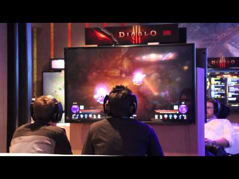 Diablo III on the PlayStation 3, we get footage of people playing it