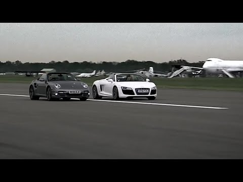 Audi R8 vs Porsche 997 - Top Gear - BBC