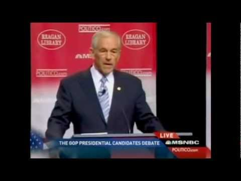 RICK PERRY VIOLENTLY GRABS AND ATTACKS RON PAUL DURING GOP DEBATE PUBLICITY BREAK!