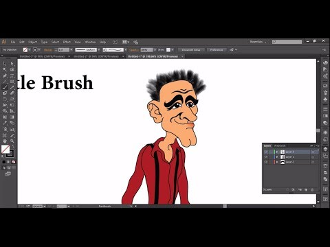 #13.04.Scatter brush + Pattern brush + Bristle brush