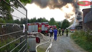 Ennepetal-Voerde 21.08.2012 – Feuer / Großbrand an der Boeseke, es brennt eine ehem. Gesenkschmiede
