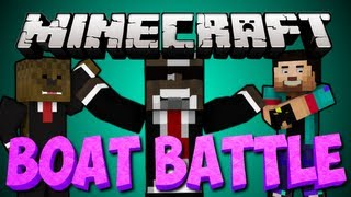 NEW Minecraft BOAT BATTLE Minigame