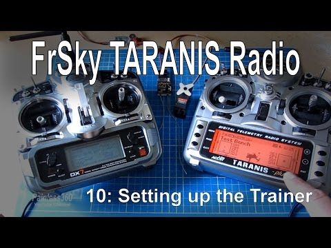 (10/12) FrSky TARANIS Radio – Setting up and using the Trainer (Master/Slave) setup with a DX7 - UCp1vASX-fg959vRc1xowqpw