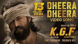 Dheera Dheera Full Video Song  KGF Malayalam Movie  Yash  Prashanth Neel  Hombale Films