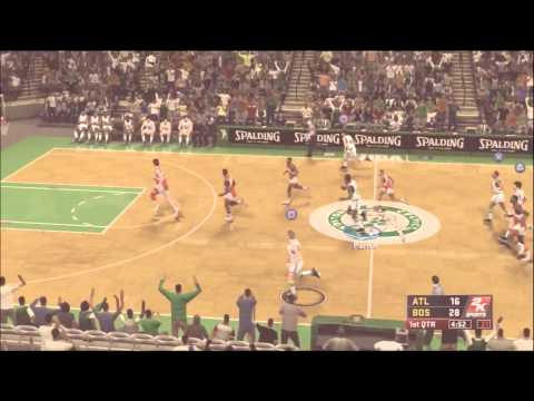 NBA 2K12 Larry Bird vs Dominique Wilkins (Human Highlight Film)