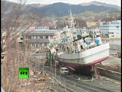 RT footage of Japan Kesennuma -ghost- port city smashed by tsunami