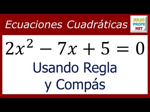 Resolución de una ecuación cuadrática con regla y compás