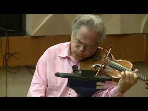 Violin studio class with Maestro Perlman: The Perlman Music Program in Jerusalem 2010