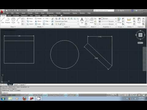 AutoCAD Tutorial in Urdu part8 - Adding dimensions to your drawings