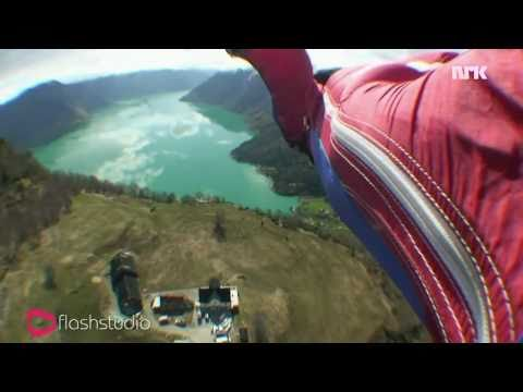 Insane base jump  Sognefjorden Extreme Flyby