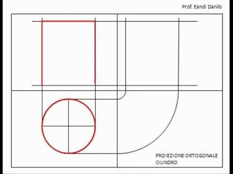 Proiezione ortogonale cilindro