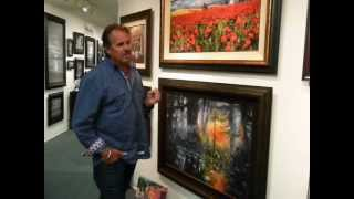 Artist James Coleman at the Endangered Arts Gallery on Hilton Head Island, October 12, 2012