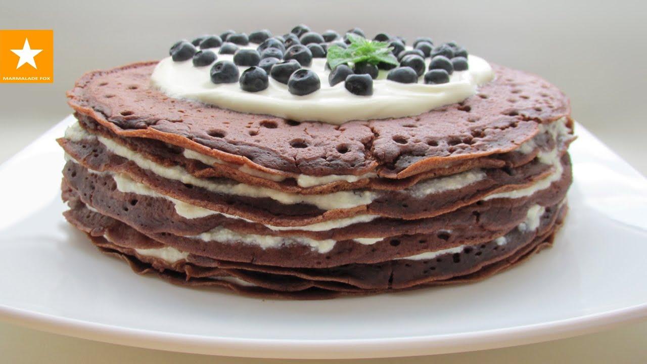 Блинный торт рецепт с творожным кремом