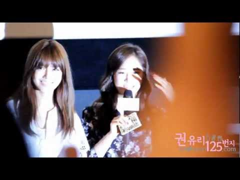 "[fancam]120630 Kwonyuri125.com - ""I AM"" Stage Greeting"