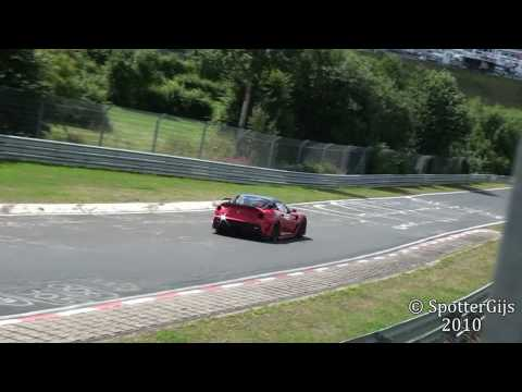 Ferrari 599 XX in action on the Nürburgring Nordschleife; CRAZY sounds!