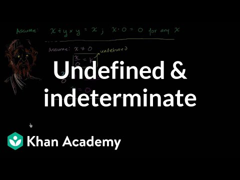 Undefined and Indeterminate