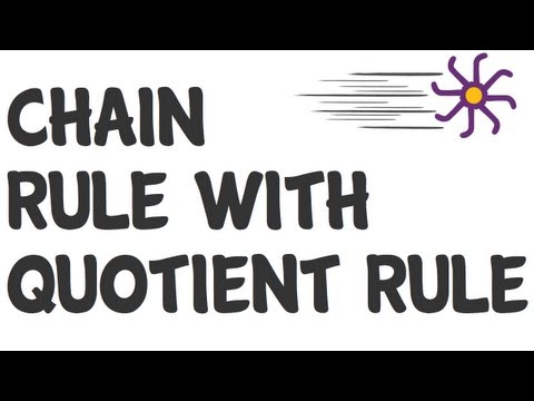 Rapid calculus - chain rule with quotient rule
