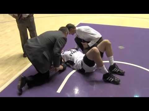 Weber St. vs. San Jose - Dec 3, 2011 - Graphic injury