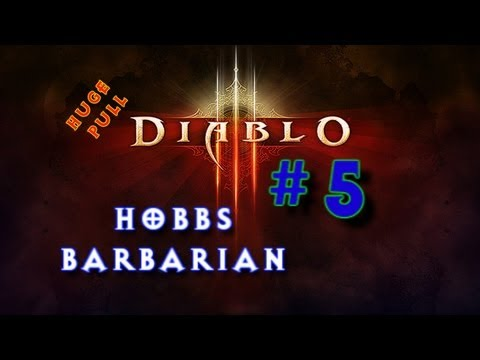 Diablo 3 - Huge Level 7 Pull : Hobbs the Barbarian Part 5 : Diablo 3 III Beta (Gameplay/Commentary)