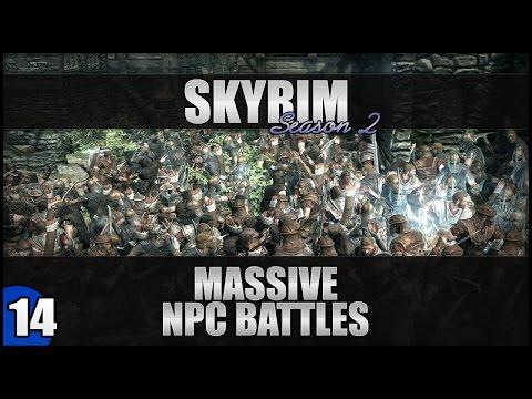 Skyrim Large Scale AI Battles | 1080p - Battle #14: 90 Bandits VS 2 Grey Beards