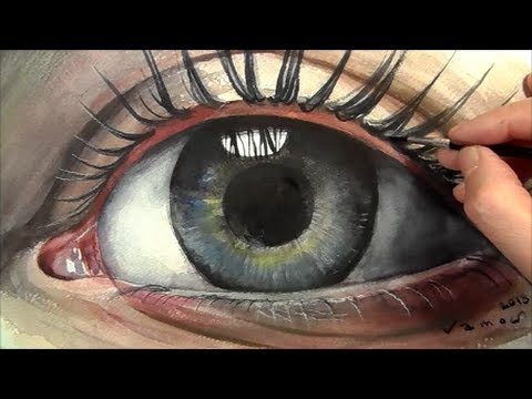 Soul, How to Paint a Realistic Eye, Speed Painting, Watercolour Tutorial, Time lapse