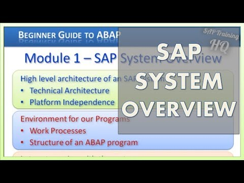 SAP Training: Beginners Guide - Learn ABAP - SAP System Overview