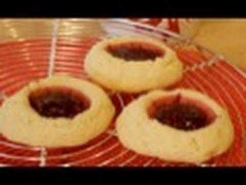 Raspberry Thumbprint Cookies: Cookie Jar #14