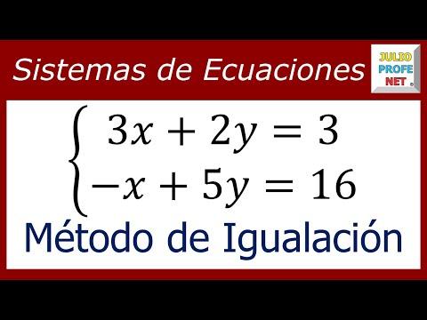 Solución de un Sistema de 2 x 2 por el Método de Igualación