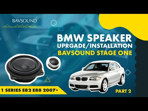 BMW 1 Series Speaker Upgrade 2/2 -BSW Stage I -E82:88 '07+.mov