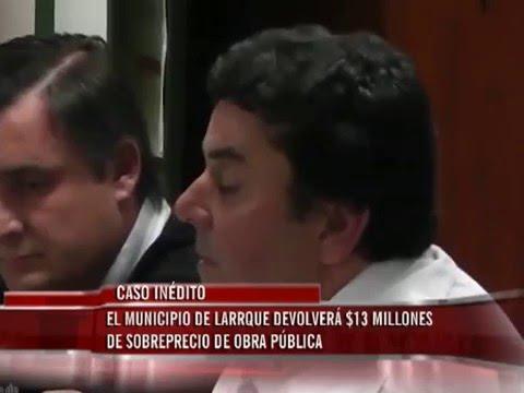 Intendente devuelve 13 millones de pesos de obra pública sobre presupuestada