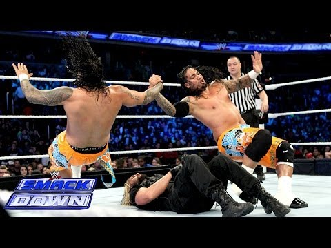 The Usos vs. Seth Rollins & Roman Reigns: SmackDown, Jan. 3, 2014
