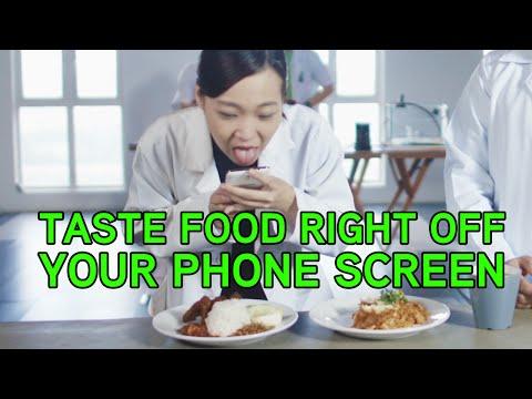 !! بالفيديو .. شاشة تجعلك تتذوق الأطعمة من هاتفك المحمول