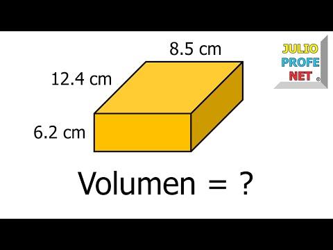 Volumen de un prisma recto