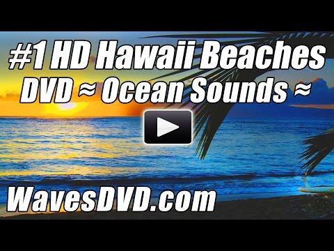 #1 HAWAII BEACHES Waves DVD Video Relaxing Wave Sounds Best Ocean Videos Relaxation Blu-Rey