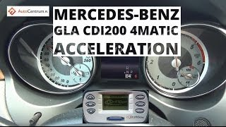 Mercedes-Benz GLA 200 CDI 4MATIC 136 KM - acceleration 0-100 km/h