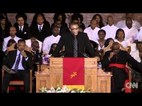 Tyler Perry at Whitney Houston Funeral