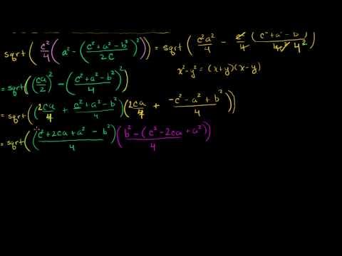 Parte 2 della Dimostrazione della Formula di Erone