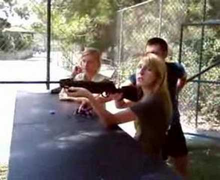 albanian girl with gun