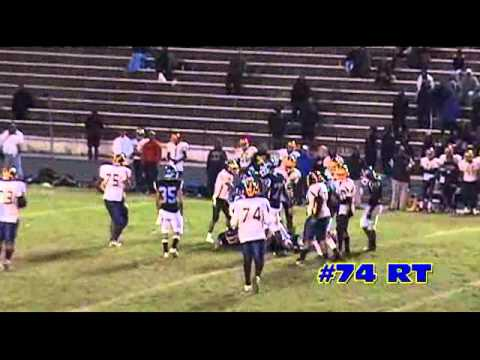 Daniel Oladimeji OT / DT Class of 2012 Football highlight