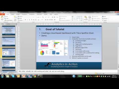 Creating Cloud Based Scorecards & Dashboards  Using Tibco Spotfire Sliver  Tutorial 1- The basics