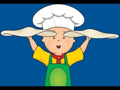 Caillou pizza yapıyor (Caillou cooks pizza)