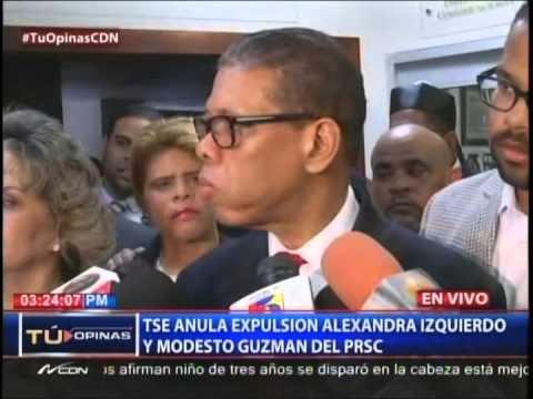TSE anula expulsión de Alexandra Izquierdo y Modesto Guzmán del PRSC 2