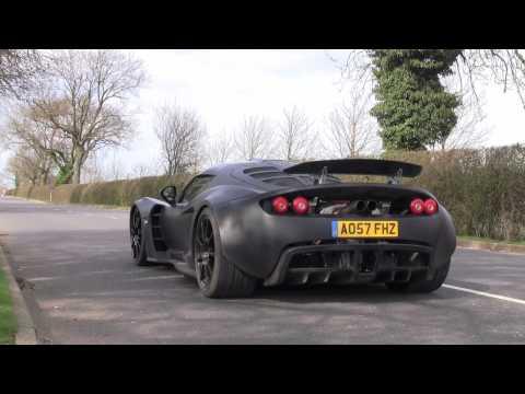 Hennessey Venom GT Prototype - Road Testing in England