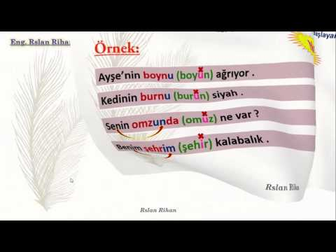 تعلم اللغة التركية (الدرس 10 من المستوى الأول A1) (الملكية 2)