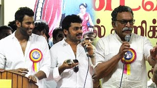 Watch Are you against Sarath because of Kamal : Press Interaction | Vishal, Karthi, Nasser Red Pix tv Kollywood News 03/Oct/2015 online